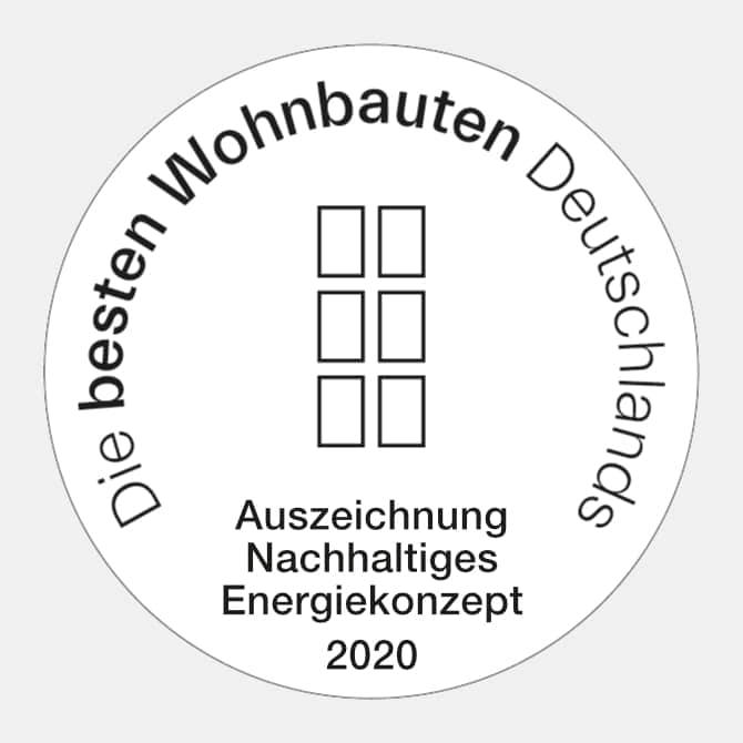 Die besten Wohnbauten Deutschlands. Auszeichnung Nachhaltiges Energiekonzept 2020 Callwey.