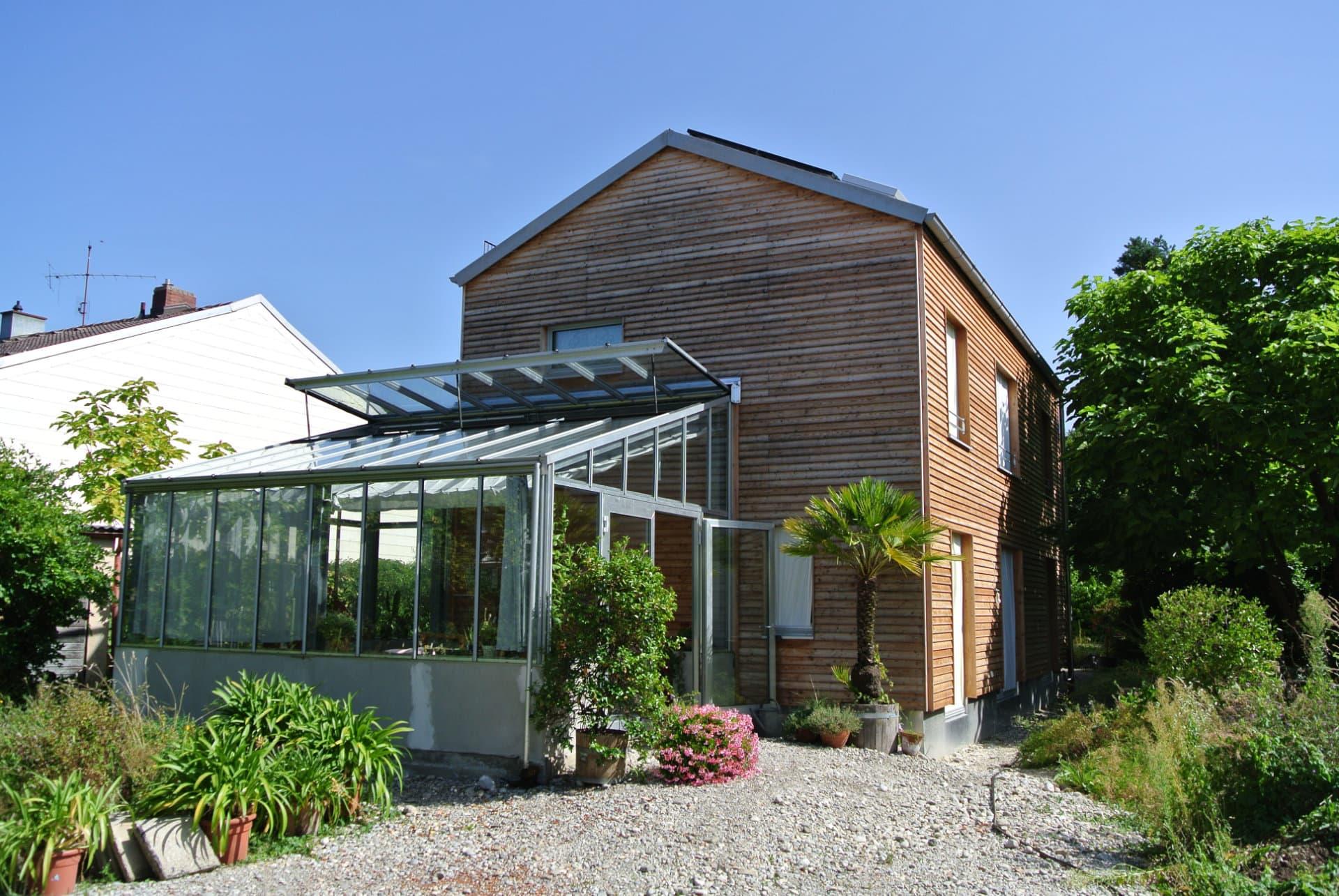 Wintergarten des EFH NEST AU in München im Passivhausstandard (energetische Sanierung).